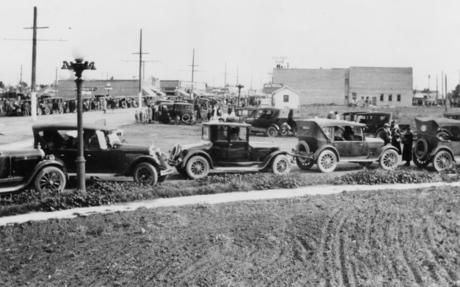 View of the intersection of Owensmouth and Sherman Way (1920s)..jpg
